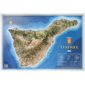 Isla de Tenerife en relieve.