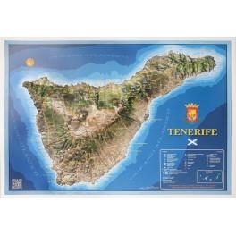 Isla de Tenerife en relieve.