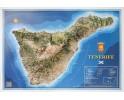 Isla de Tenerife en relieve. Grande.