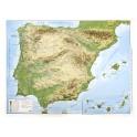 España físico en relieve