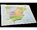 España político en relieve