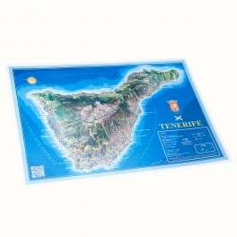 Isla de Tenerife en relieve