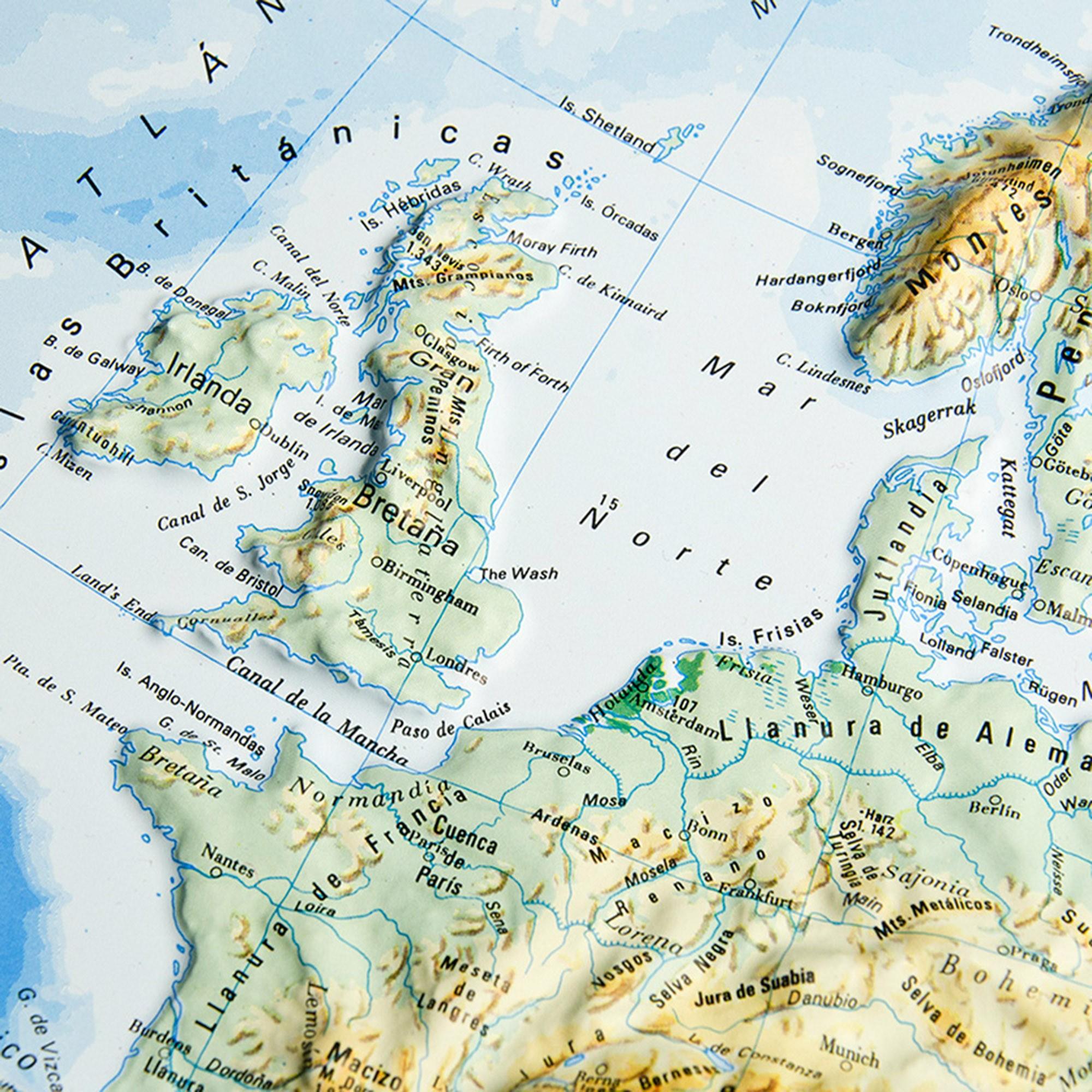 Worksheet. en relieve de Europa Fsico