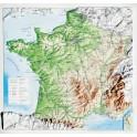Mapa en relieve de Francia