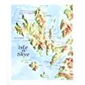 Mapa en relieve de la isla de Skye (Escocia)