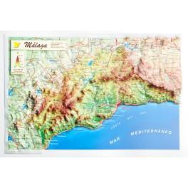 Provincia de Málaga en relieve
