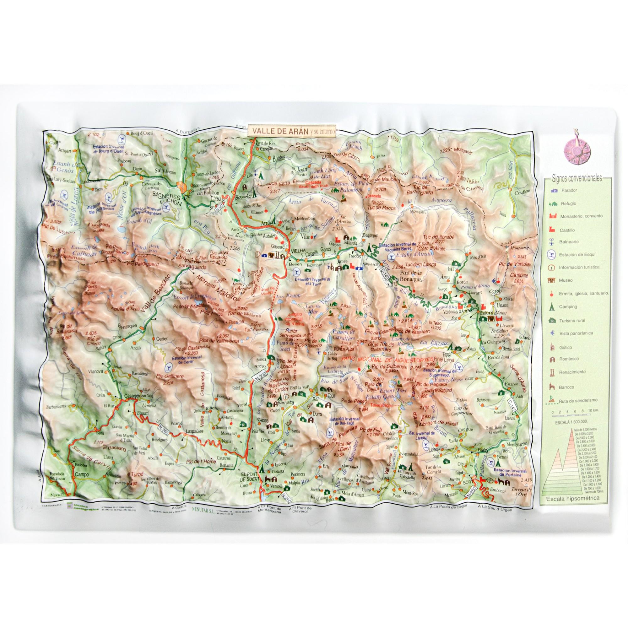 Turistico Valle De Aran Mapa.Valle De Aran Vall D Aran