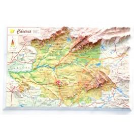 Provincia de Cáceres en relieve