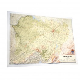 Provincia de Salamanca en relieve